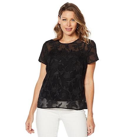 G by Giuliana Woven Top with Cami