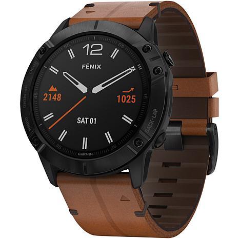 Garmin Fenix 6X Sapphire GPS Watch in Black