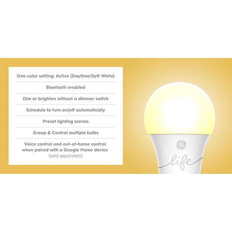 GE C-Life Smart Bulb Dimmable 6-pack 60W LED Light Bulbs