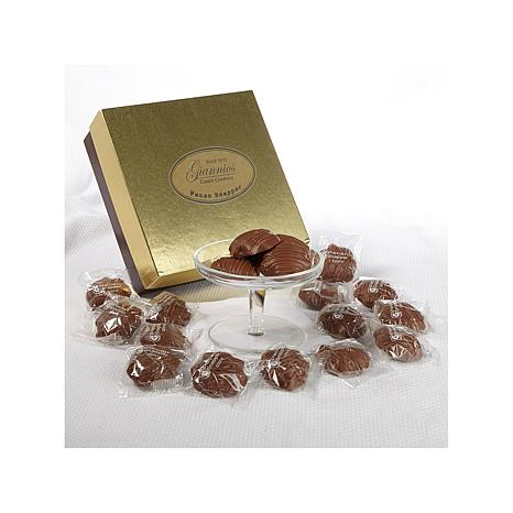 Giannios 1 lb. of Choc. Pecan Snappers in a Golden Box