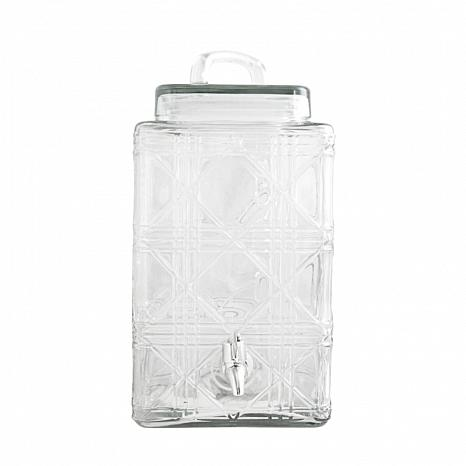 Gibson Home Glowing Ambers 2.5 Gallon Drink Dispenser in Clear Glass