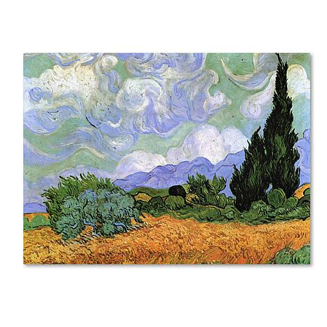 "Giclee Print - Wheatfield with Cypresses 24"" x 18"""