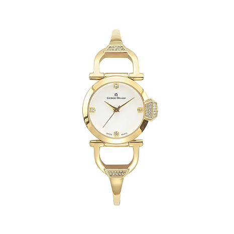 Giorgio Milano Women's Crystal Bezel Bracelet Watch