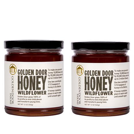 Golden Door Wildflower Honey - Set of 2