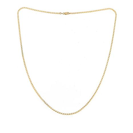 """Golden Treasures 14K Italian Gold Crystal Cage Link Chain - 21-11/16"""""""