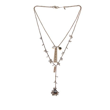 """Good Work(s) """"Incredibly Blessed"""" 2-Row 22"""" Y-Drop Necklace"""