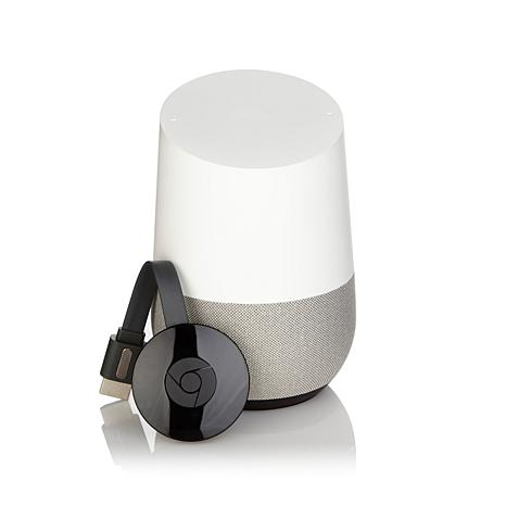 Google Home Voice Activated Smart Assistant and Chromecast Bundle