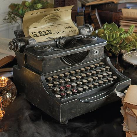 Grandin Road Animated Haunted Typewriter
