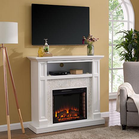 Grinston Tiled Media Fireplace Console