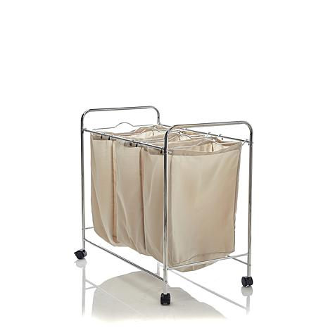 Hable Construction 3 Bag Rolling Laundry Sorter
