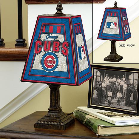 Handpainted Art Glass Team Lamp - Chicago Cubs - MLB