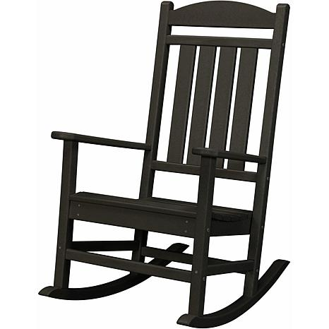 Hanover All-Weather Pineapple Cay Porch Rocker - Black