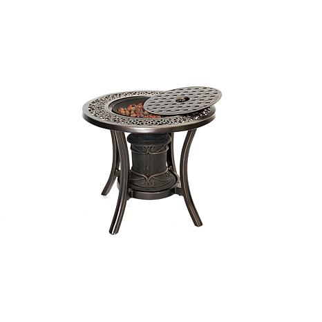 Hanover Cast-Top Gas Fire Urn Side Table