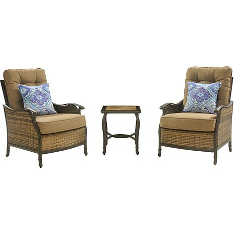 Hanover Hudson 3-Piece Square Lounge Set