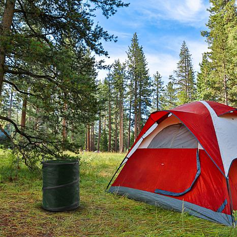 Happy Camper Pop-Up Trash Bin
