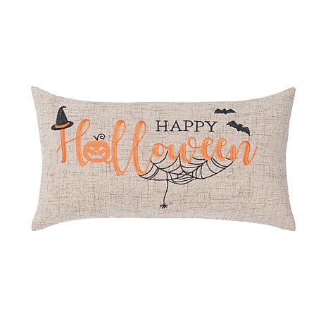 Happy Halloween Pillow Tan