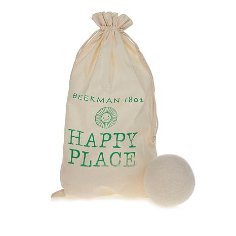 Happy Place Set of 3 Wool Dryer Balls with Storage Bag