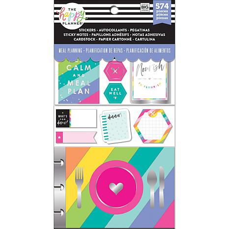 Happy Planner Note Cards/Sticky Note Multi Pack - Meal Planning
