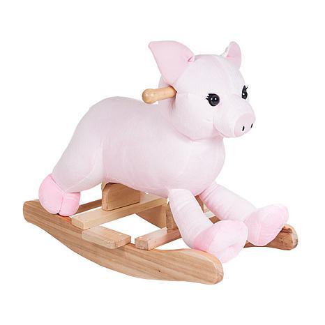 Happy Trails Plush Rocking Hamlet Pig