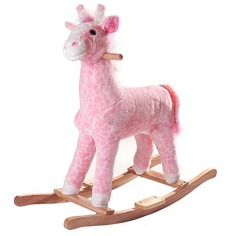 Happy Trails Plush Rocking Penny the Pink Giraffe