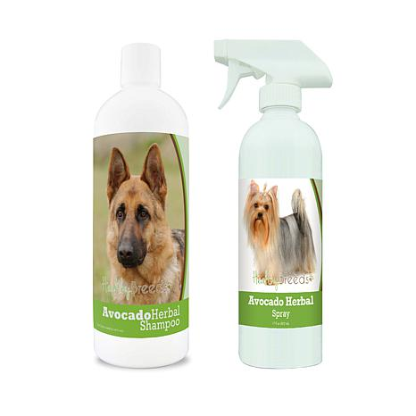 Healthy Breeds Double-Down Avocado Grooming Package w/Shampoo & Spray