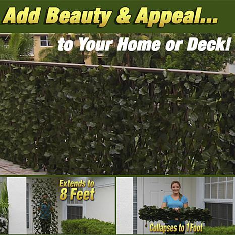 hedge fence 2 pack expandable faux ivy privacy fence 8639446 hsn