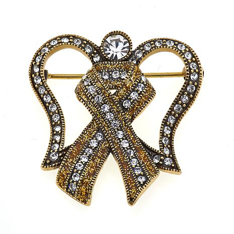 "Heidi Daus ""Angel Awareness"" Crystal Pin"
