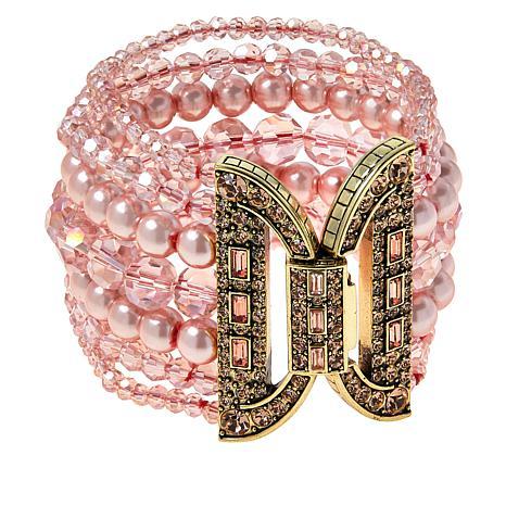 "Heidi Daus ""Bead It"" Crystal-Accented Multi-Row Bracelet"