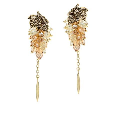 """Heidi Daus """"Champagne Taste"""" Beaded Drop Earrings"""