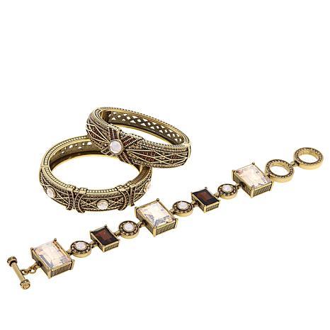 Heidi Daus Conscious Coupling 3 Piece Bracelet Set