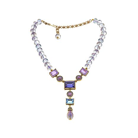 "Heidi Daus ""Conscious Coupling"" Beaded  Y-Drop Necklace"