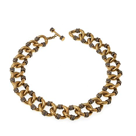 "Heidi Daus ""Curb-acious"" Crystal-Accented Chain Necklace"