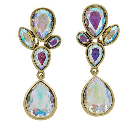 "Heidi Daus ""Dazzling Decolette"" Crystal Drop Earrings"