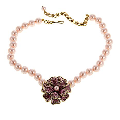 "Heidi Daus ""Dazzling Dogwood"" Beaded Crystal Drop Necklace"