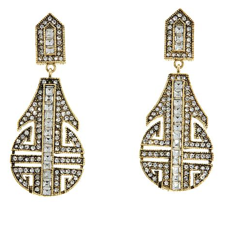 "Heidi Daus ""Denim and Deco"" Crystal Drop Earrings"