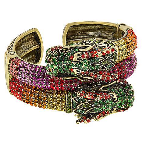 "Heidi Daus ""Divine Dragon"" Crystal-Accented Cuff Bracelet"