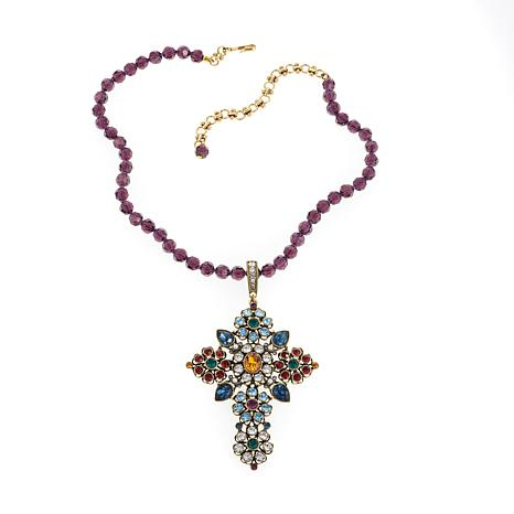 """Heidi Daus """"Divine Inspiration"""" Crystal Cross Pendant and Necklace"""