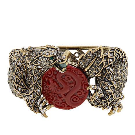 "Heidi Daus ""Dragon Treasure"" Crystal-Accented Bangle Bracelet"