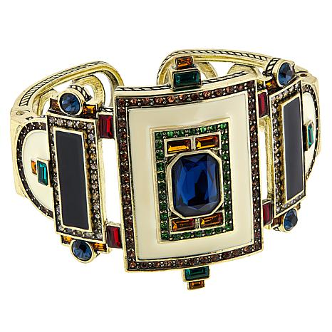 "Heidi Daus ""Eclectic Elegance"" Crystal and Enamel Cuff Bracelet"