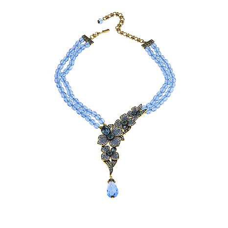 "Heidi Daus ""Eye Catching Array"" Beaded Crystal Drop Necklace"