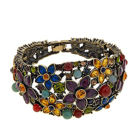 "Heidi Daus ""Fantasy in Florals"" Semi-Bangle Bracelet"
