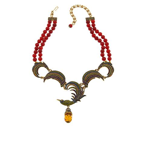 "Heidi Daus ""For the Birds"" 2-Strand Y-Drop Necklace"
