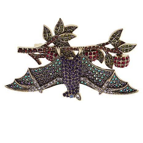Heidi Daus Reindeer Moose Pin Swarovski Crystals Great 4 Loved ONE!