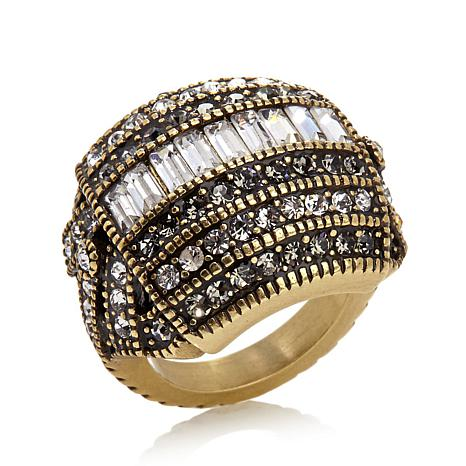 "Heidi Daus ""Heidi's Master Clasp"" Crystal-Accented Ring"