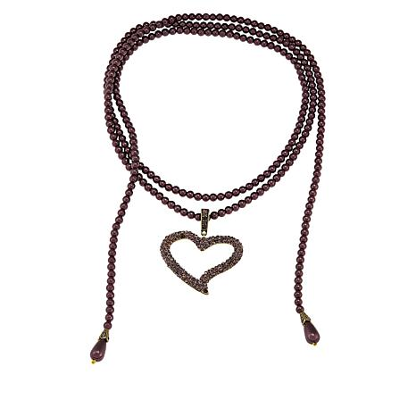 """Heidi Daus """"I'll Loop You In"""" Enhancer Pendant and  Lariat Necklace"""