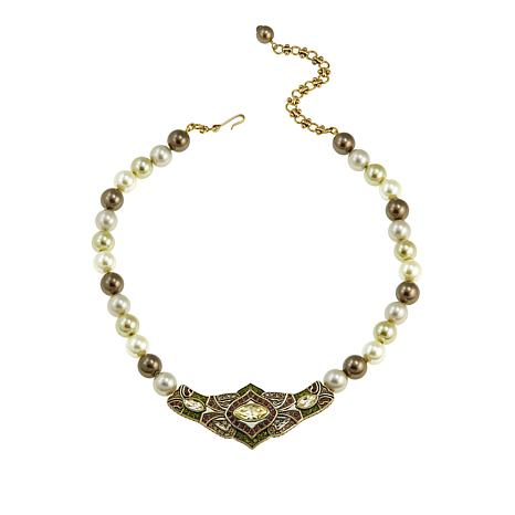"""Heidi Daus """"Masterful Marquise"""" Beaded Crystal Necklace"""