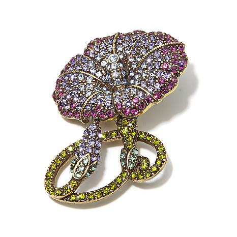 "Heidi Daus ""Morning Glamour"" Pavé Crystal Pin"