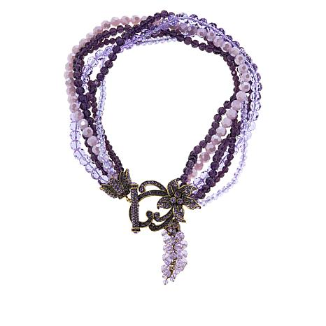 "Heidi Daus ""Perennial Cluster"" Beaded Tassel Necklace"