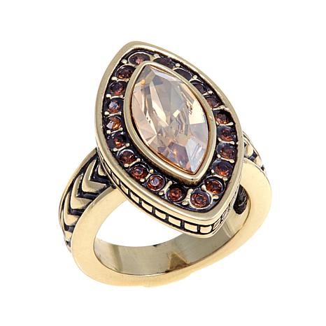 "Heidi Daus ""Pretty and Polished"" Crystal Ring"