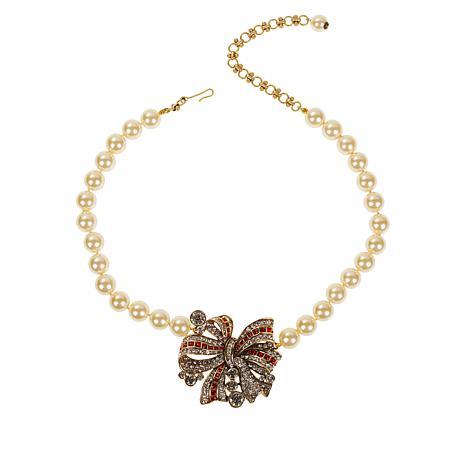 "Heidi Daus ""Ravishing Ribbon"" Beaded Crystal Drop Necklace"